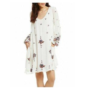 NEW  Free People Embroidered Mini Dress Small